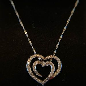 Zales diamond heart necklace
